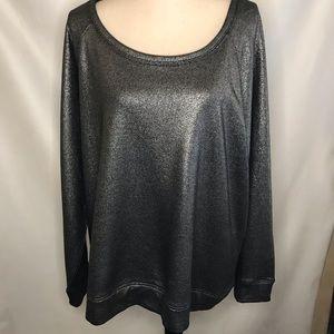 Torrid Sweatshirt Metallic Black Color Size 3